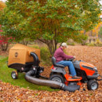 The DR Leaf and Lawn Vacuum in action!