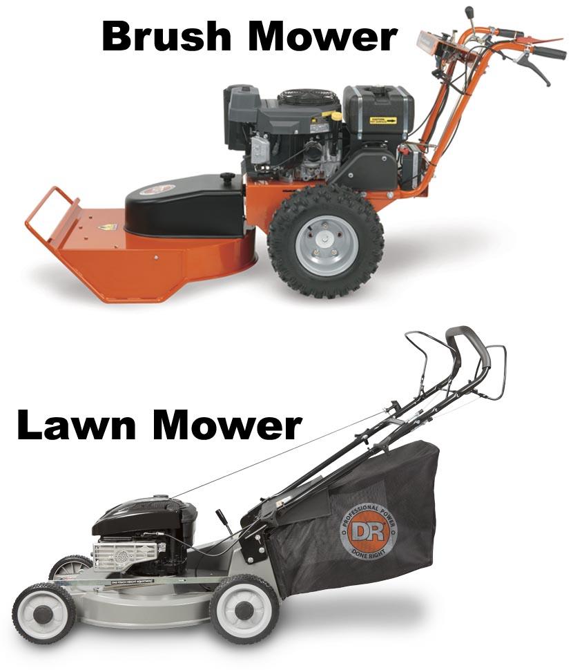 Brush Mower vs. Lawn Mower