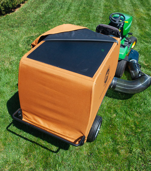 The DR Leaf and Lawn Vac's Mesh-Top and 8 inch intake maximize air flow.