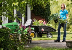 The DR® Leaf and Lawn Vacuum Trailer is great for gardening!