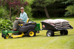 The DR® Leaf and Lawn Vac Trailer is perfect for yard and farm!