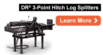 NEW DR Power 3 Point Hitch Horizontal-Vertical Log Splitter