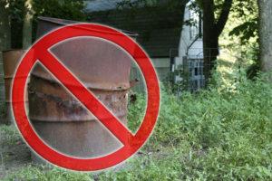 Rusty Burn Barrels are an eysore