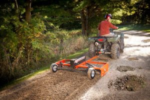 """DR NEW Power Grader 60"""" PRO Model with Powered Remote in action"""