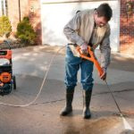 Generac SpeedWash Pressure Washer in action