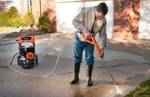 Generac SpeedWash Pressure Washer in action